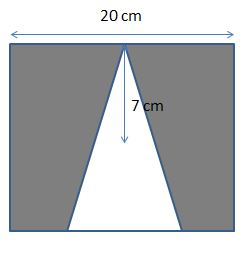 Shaded Region for a Triangle Inscribed in a Square