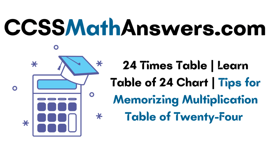 tips to learn 24 times table