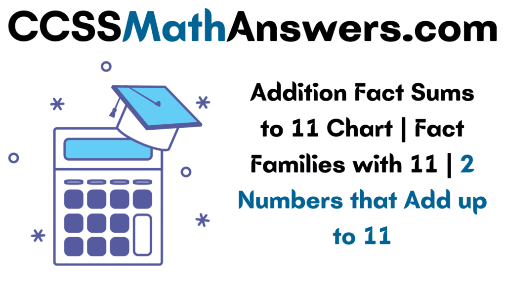 Addition Fact Sums to 11
