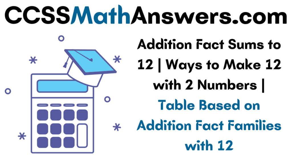 Addition Fact Sums to 12