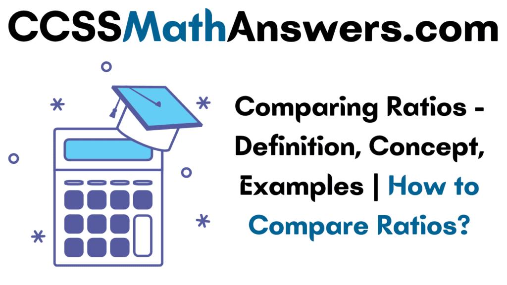 Comparing Ratios