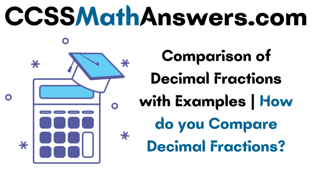 Comparison of Decimal Fractions