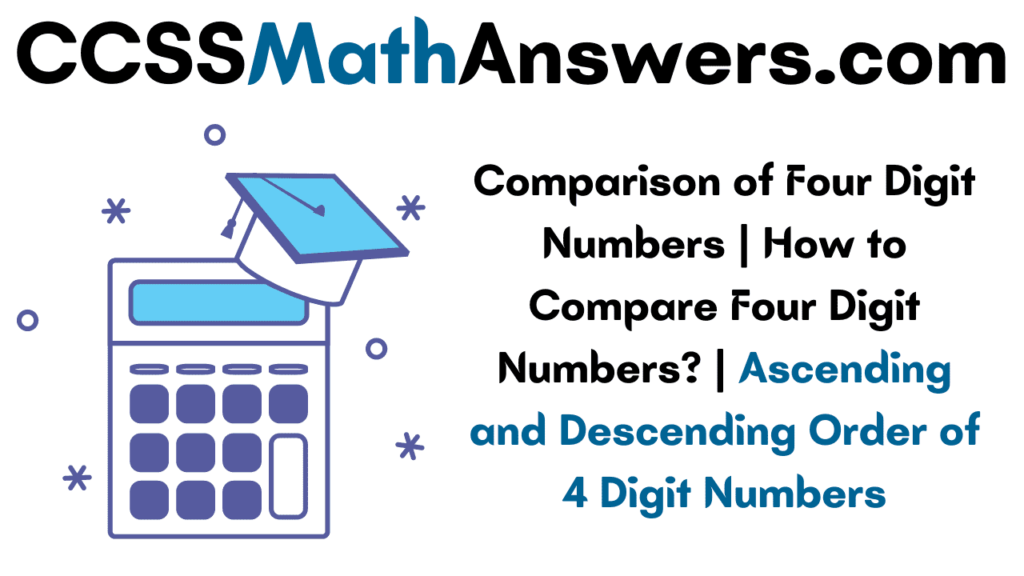 Comparison of Four Digit Numbers