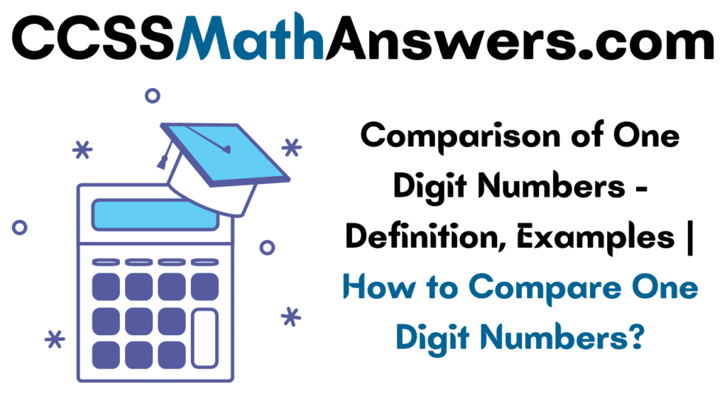Comparison of One Digit Numbers