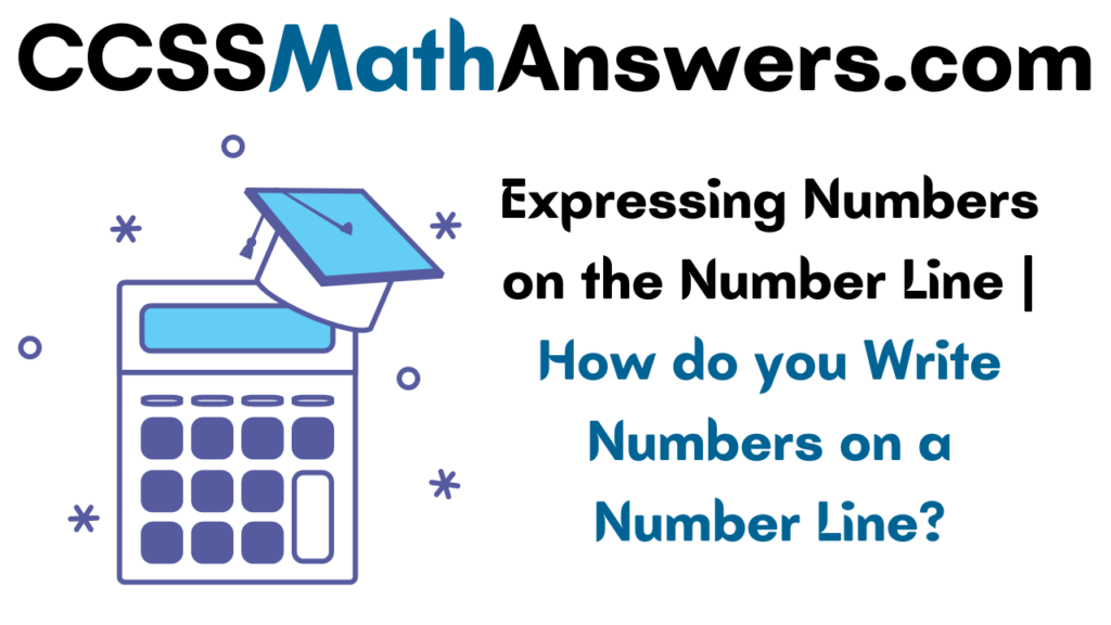 Expressing Numbers on the Number Line