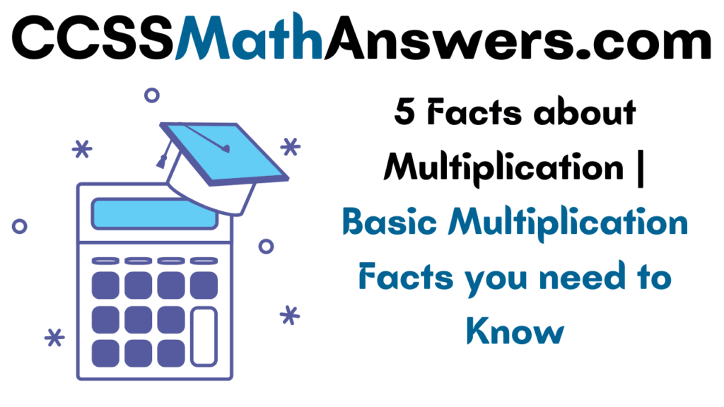 Facts about Multiplication