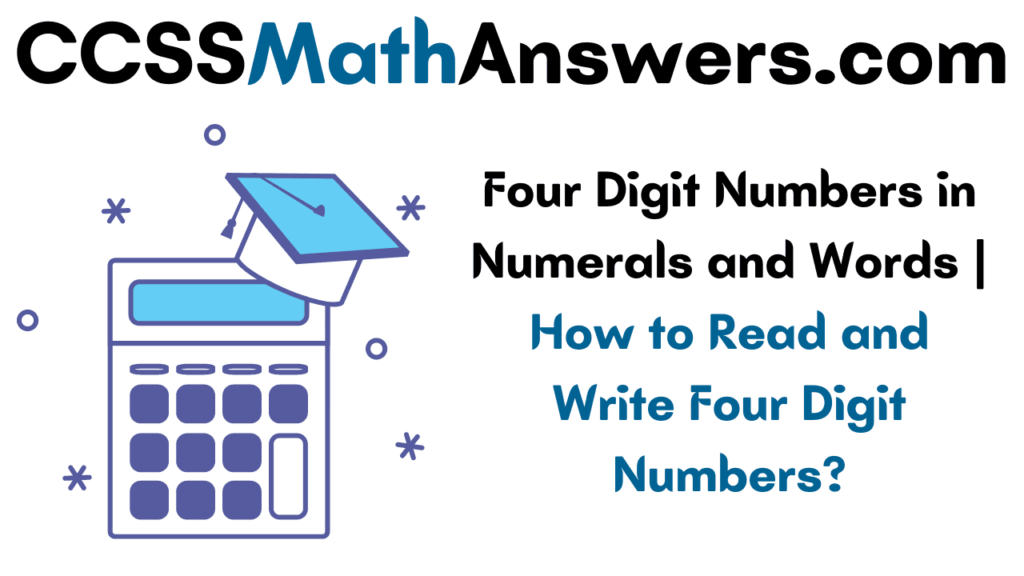 Four Digit Numbers in Numerals and Words