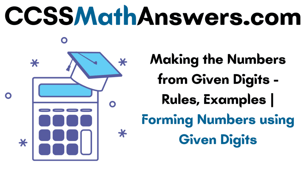 Making the Numbers from Given Digits