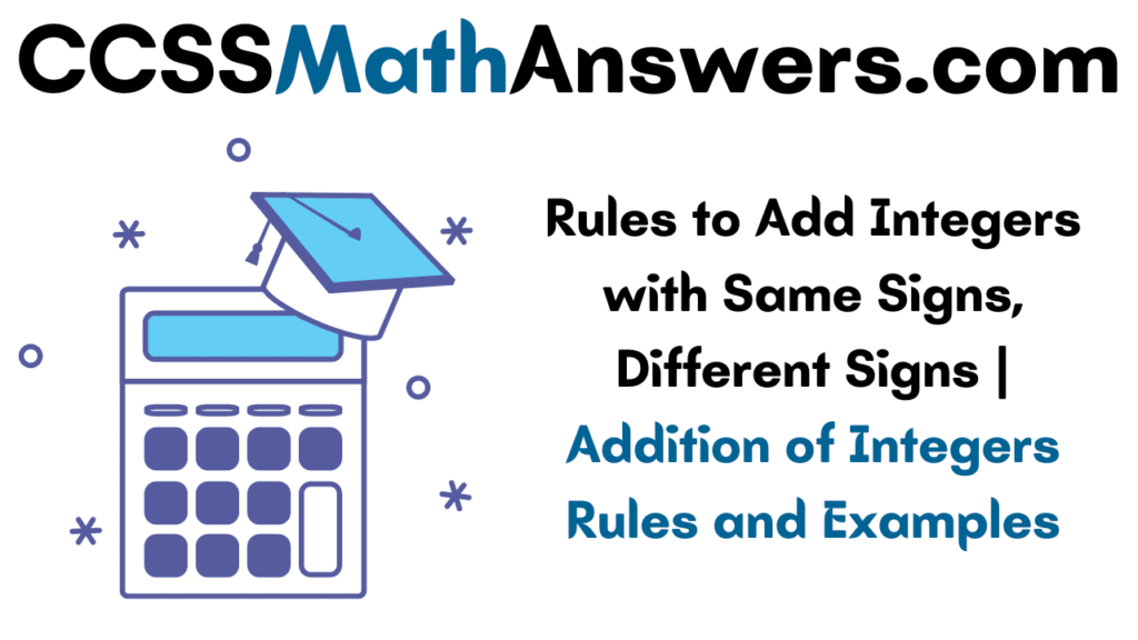 Rules to Add Integers