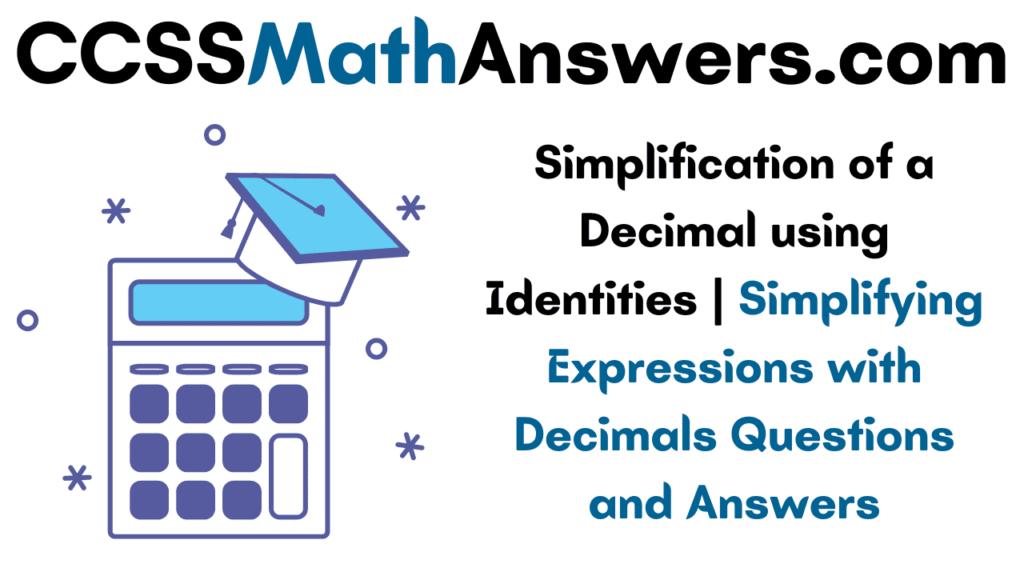 Simplification of Decimal