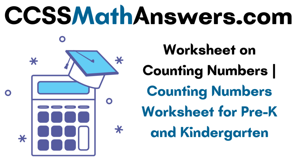 Worksheet on Counting Numbers