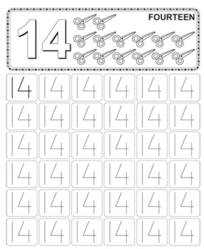 Worksheet on Number 14