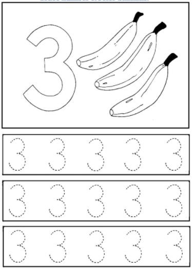 Worksheet on Number 3