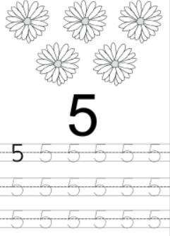 Worksheet on Number 5