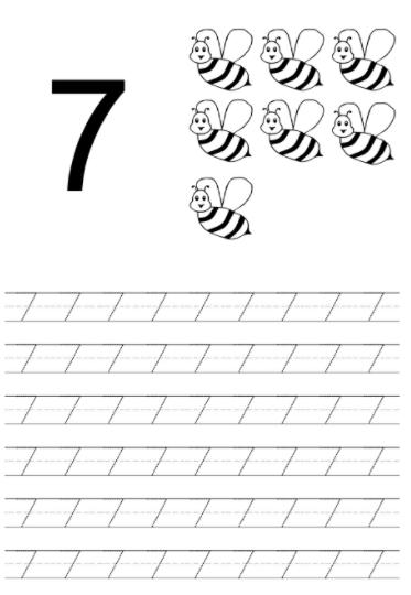 Worksheet on Number 7