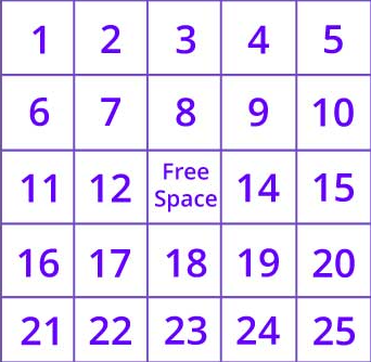 1-25 Number Game
