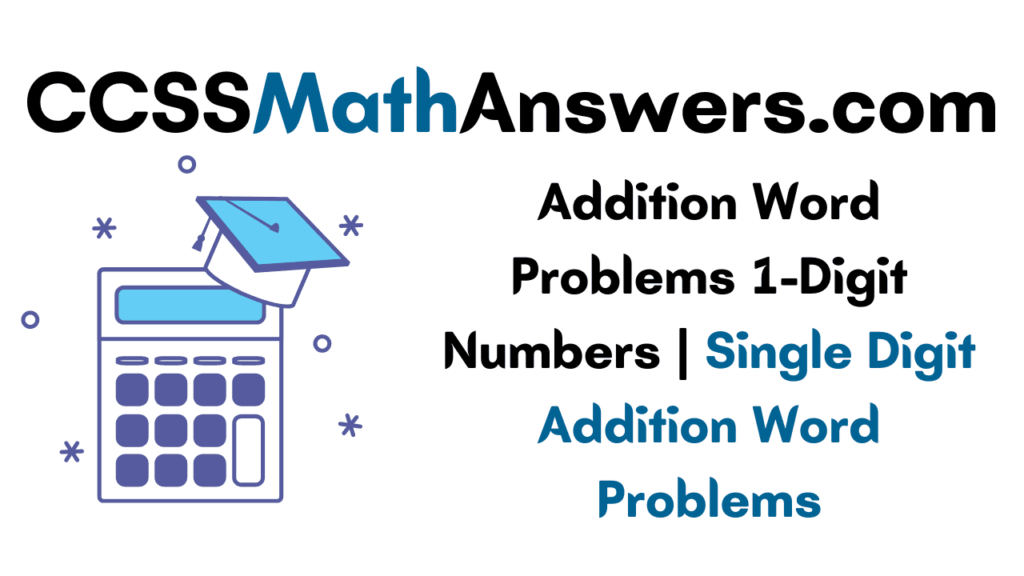 Addition Word Problems 1-Digit Numbers