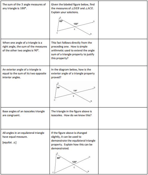 Eureka Math Geometry Module 1 Lesson 33 Review Exercise Answer Key 1