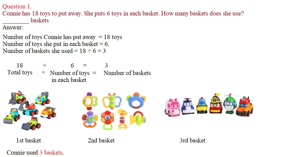 Everyday-Math-Grade-3-Home-Link-1.9-Answer-Key-Introducing-Division-Question-1