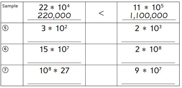 Everyday Math Grade 5 Home Link 2.2 Answer Key 1