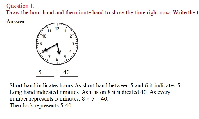 Everyday-Mathematics-3rd-Grade-Answer-Key-Unit-1-Math-Tools,-Time,-and-Multiplication-Everyday-Math-Grade-3-Home-Link-1.3-Answer-Key-Telling-Time-Question-1