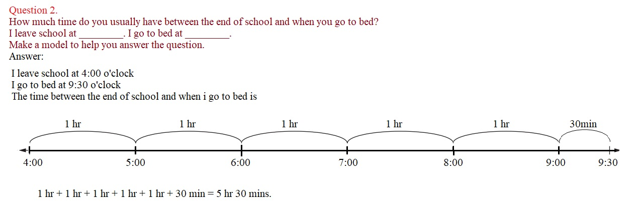 Everyday-Mathematics-3rd-Grade-Answer-Key-Unit-1-Math-Tools,-Time,-and-Multiplication-Everyday-Mathematics-Grade-3-Home-Link-1.6-Answers-Finding-Elapsed-Time-Question-2