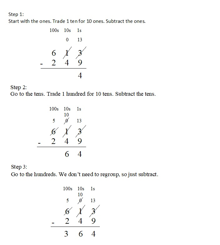 Everyday-Mathematics-4th-Grade-Answer-Key-Unit-1-Place-Value-Multidigit-Addition-and-Subtraction-Everyday-Math-Grade-4-Home-Link-1.9-Answer-Key-U.S.-Traditional-Subtraction-Question-2