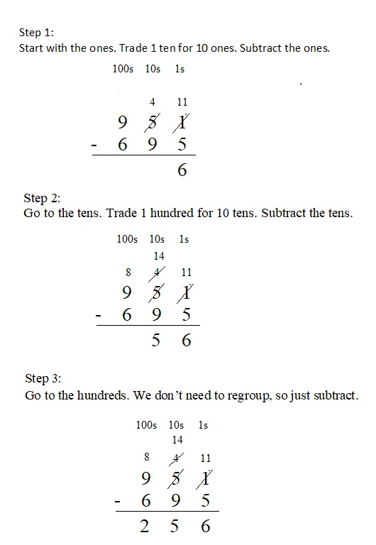 Everyday-Mathematics-4th-Grade-Answer-Key-Unit-1-Place-Value-Multidigit-Addition-and-Subtraction-Everyday-Math-Grade-4-Home-Link-1.9-Answer-Key-U.S.-Traditional-Subtraction-Question-4