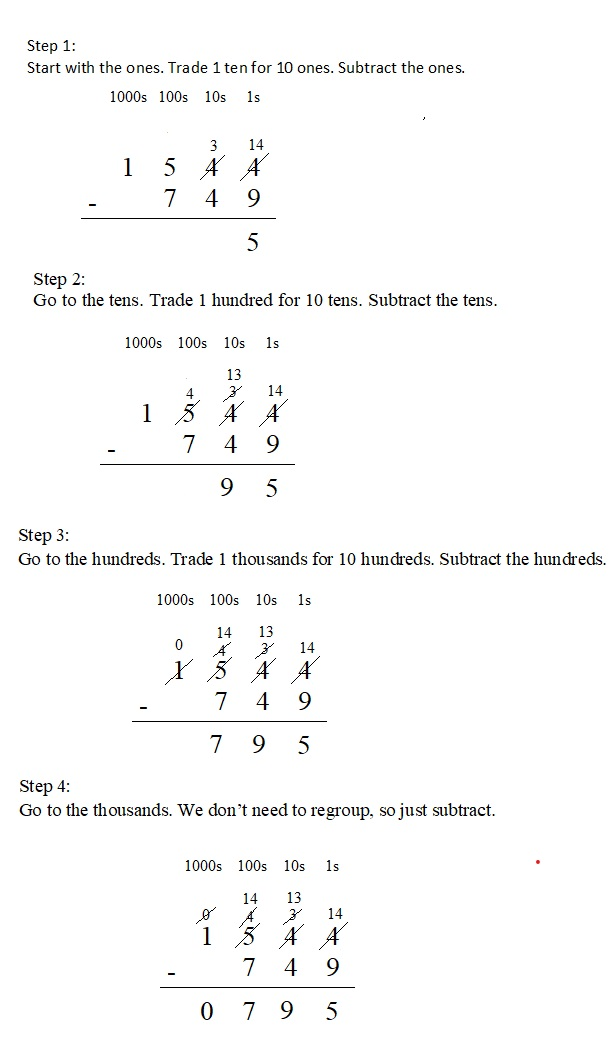 Everyday-Mathematics-4th-Grade-Answer-Key-Unit-1-Place-Value-Multidigit-Addition-and-Subtraction-Everyday-Math-Grade-4-Home-Link-1.9-Answer-Key-U.S.-Traditional-Subtraction-Question-5