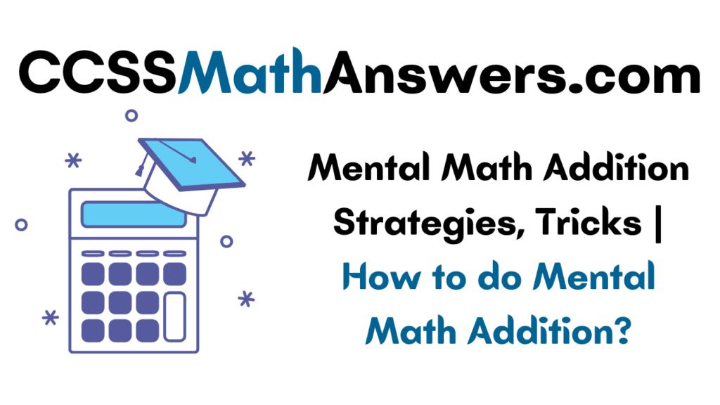 Mental Math Addition