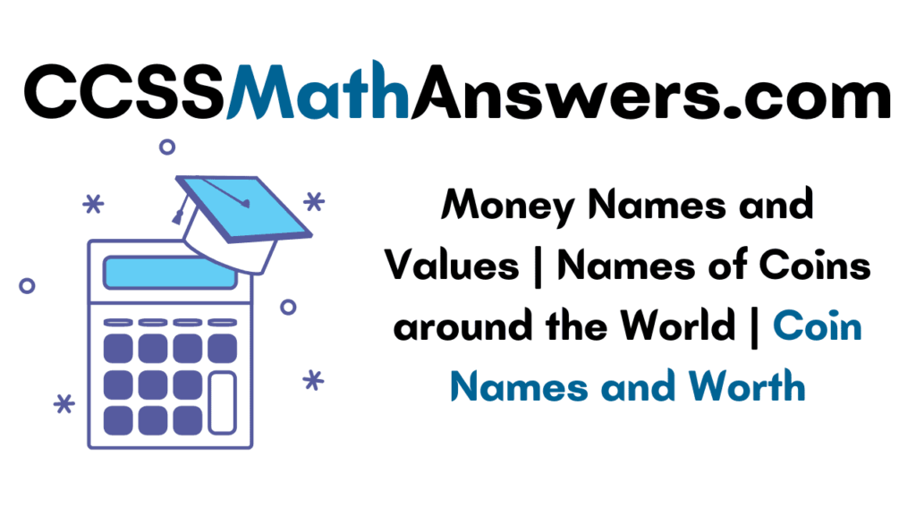 Money Names and Values