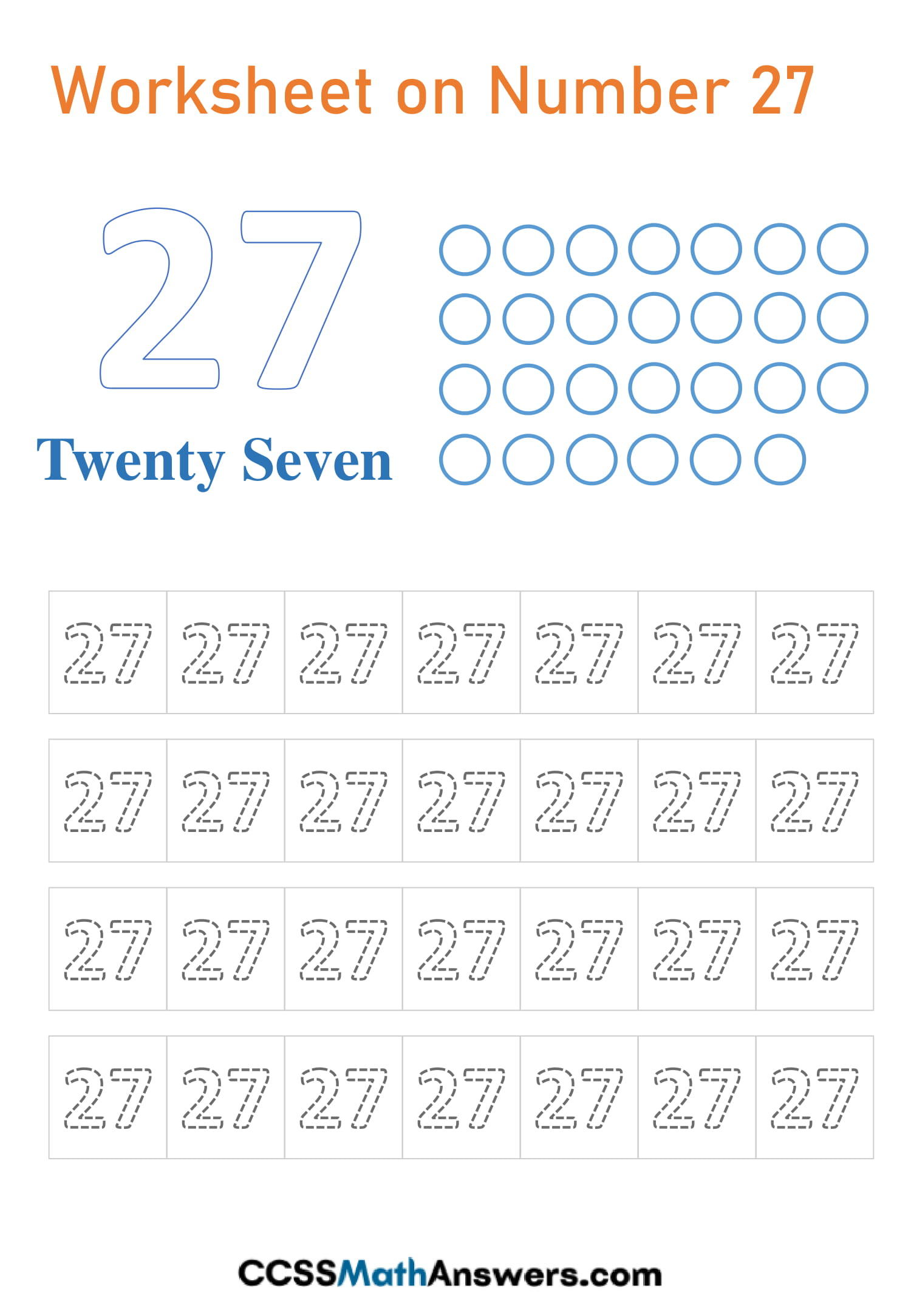 Number 27 Worksheet