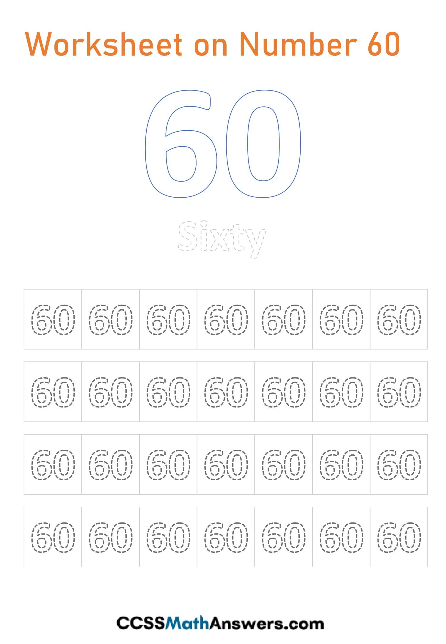 Number 60 Worksheet