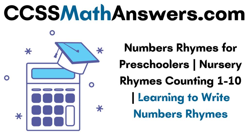 Numbers Rhymes