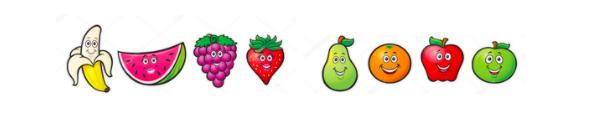 Ordinals and Cardinals Fruits Example