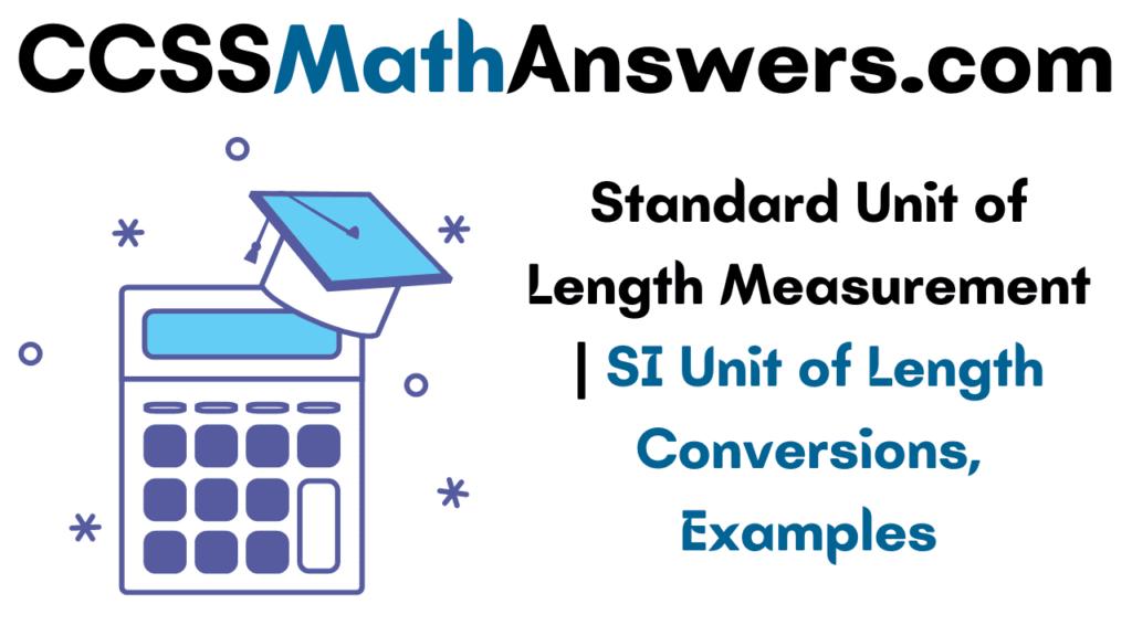 Standard Unit of Length