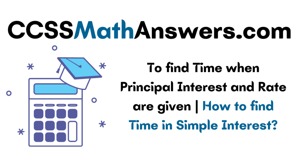 To find Time when Principal Interest and Rate are given