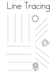 line tracing sheet for primary