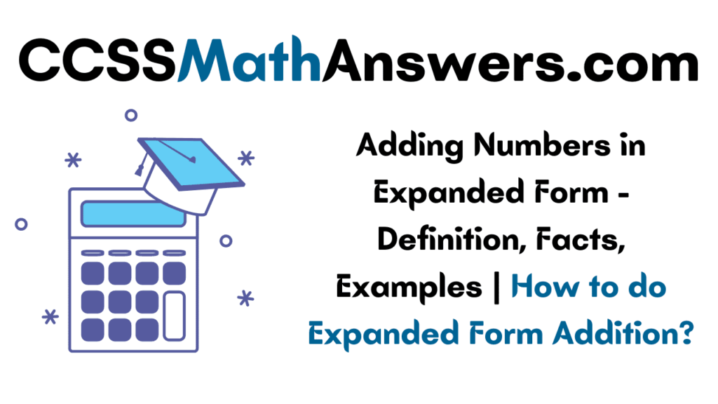 Adding Numbers in Expanded Form