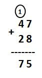Addition of 2-Digit Numbers with Regrouping Example