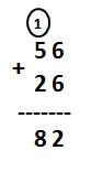 Addition of 2-Digit Numbers with Regrouping Examples