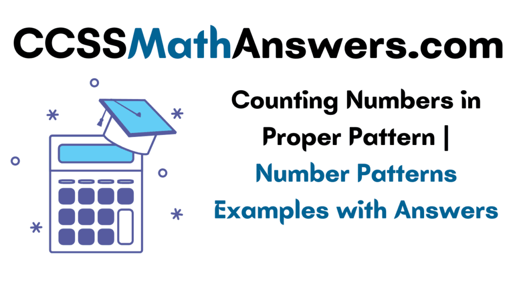 Counting Numbers in Proper Pattern