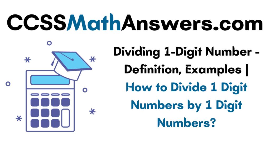 Dividing 1-Digit Number