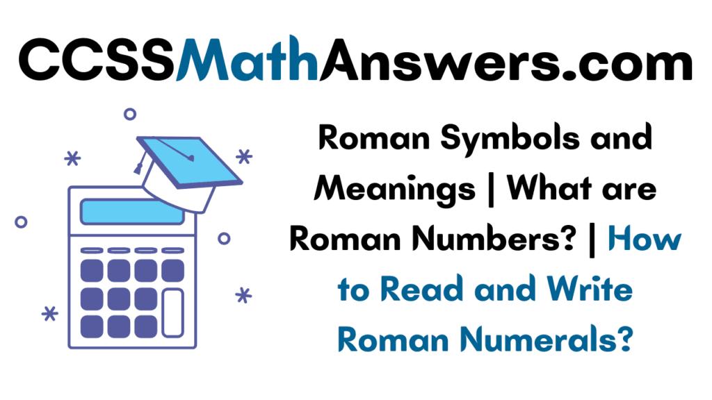 Roman Symbols