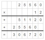 multiplicand and multiplier example 6
