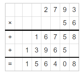 Multiply a Number by a 2-Digit Number 2