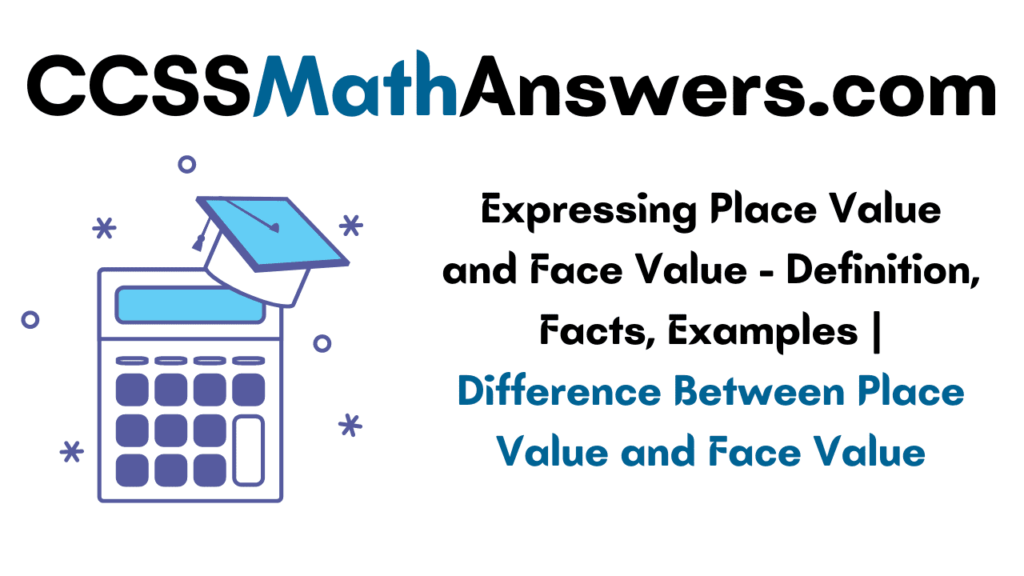 Expressing Place Value and Face Value