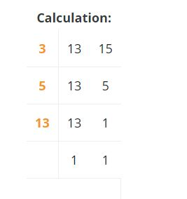 Lcm by division table method