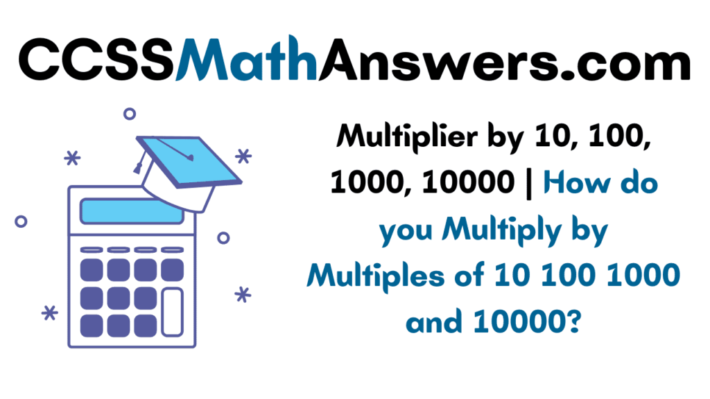Multiplier by 10, 100, 1000, 10000