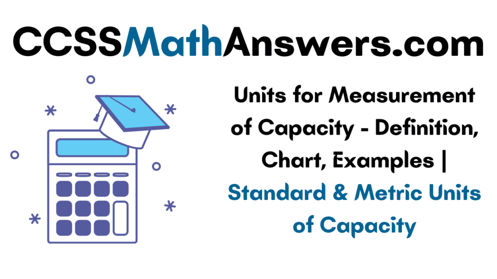 Units for Measurement of Capacity